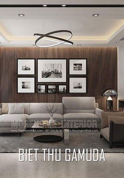 Thiết kế biệt thự liền kề Gamuda hiện đại gỗ An Cường