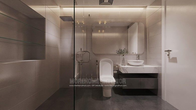 Thiết kế phòng tắm, nhà vệ sinh biệt thự louis city đại mỗ nam từ liêm hà nội