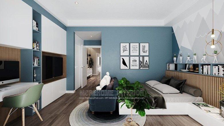 Thiết kế nội thất phòng ngủ biệt thự louis city đại mỗ nam từ liêm hà nội