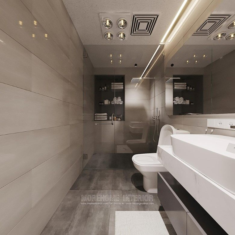 Thiết kế nhà tắm phòng vệ sinh biệt thự louis city nam từ liêm hà nội
