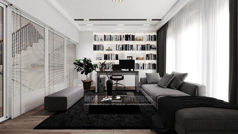 Thiết kế nội thất phòng khách biệt thự louis city đại  mỗ nam từ liêm hà nội