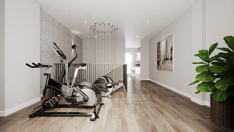Thiết kế khu vực tập gym cho biệt thự louis city đại mỗ nam từ liêm hà nội