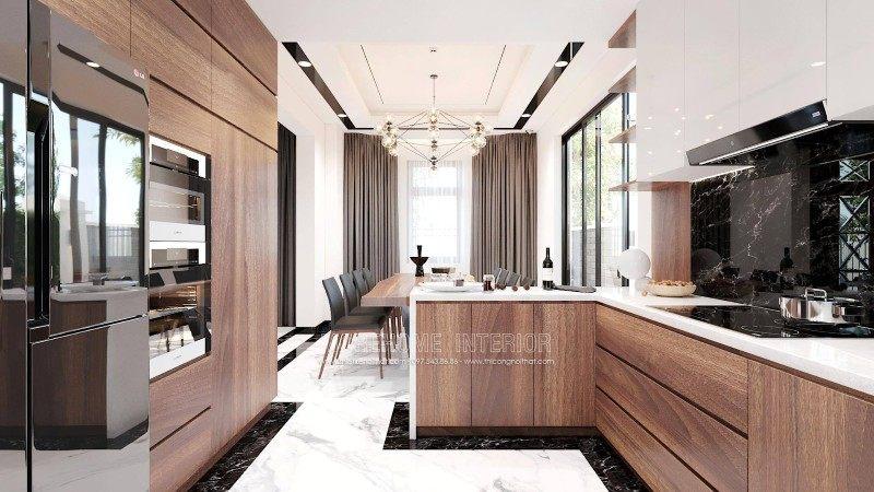 Tủ bếp hiện đại đẹp cho biệt thự manhattan vinhomes imperia hải phòng