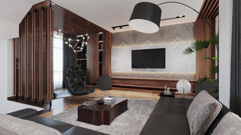 Thiết kế nội thất phòng khách biệt thự manhattan vinhomes imperia hải phòng