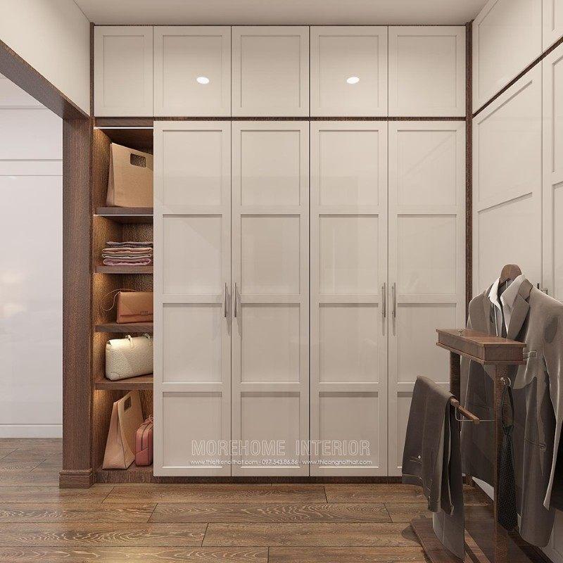 Tủ quần áo gỗ công nghiệp hiện đại cho biệt thự manhattan vinhomes imperia hải phòng