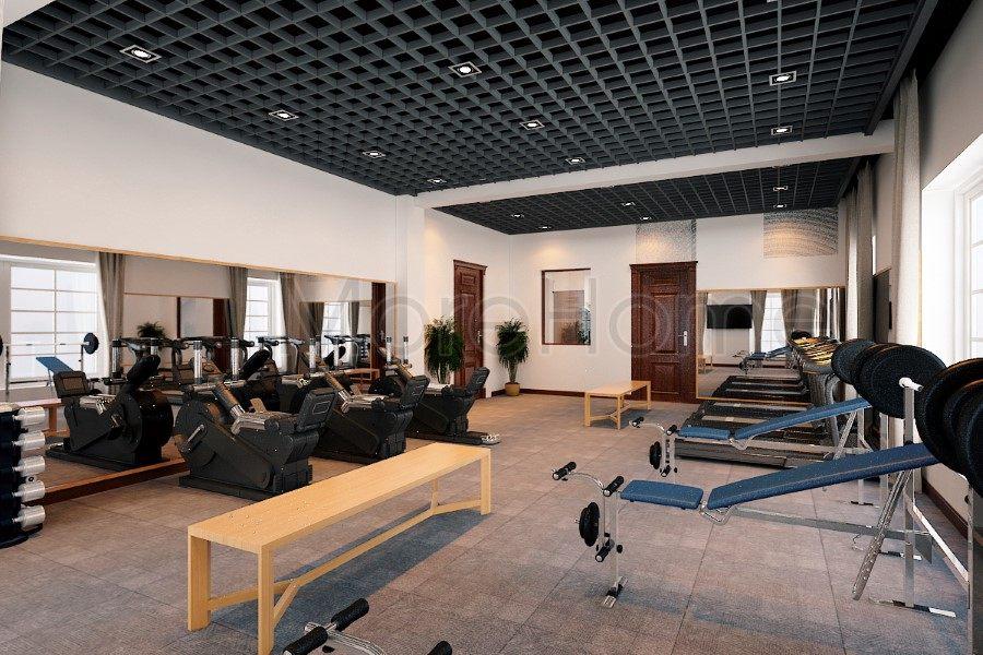 thiết kế biệt thự nhà anh trường phòng gym lầu 3