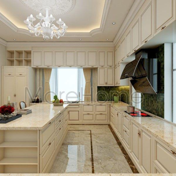 thiết kế biệt thự nhà anh trường tầng trệt khách bếp