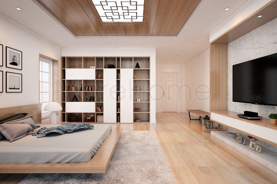 thiết kế biệt thự nhà anh trường phòng ngủ lầu 2
