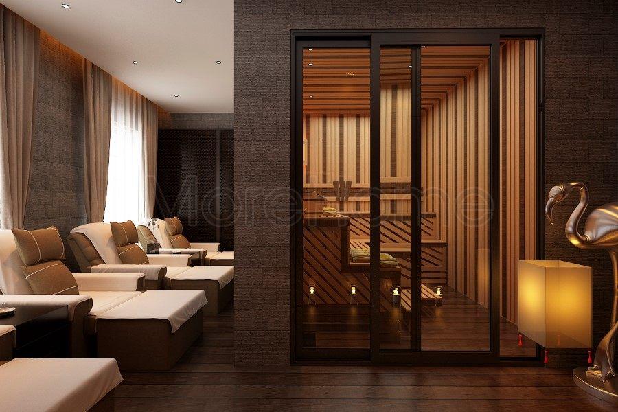 thiết kế biệt thự nhà anh trường phòng spa lầu 3
