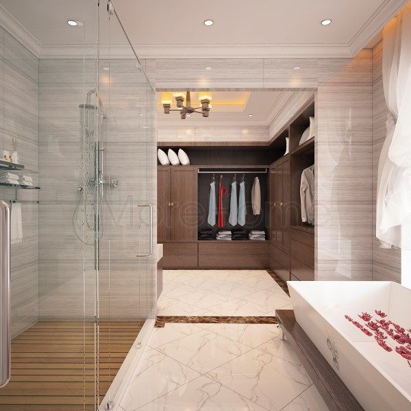 thiết kế biệt thự nhà anh trường phòng tắm lầu 2