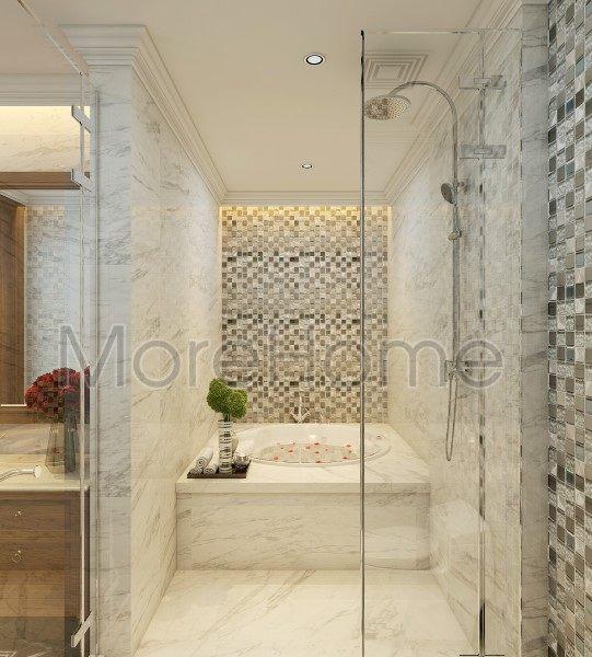 thiết kế biệt thự nhà anh trường phòng toilet tầng lửng
