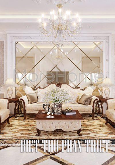 Thiết kế nội thất biệt thự Phan Thiết đẳng cấp, thời thượng.