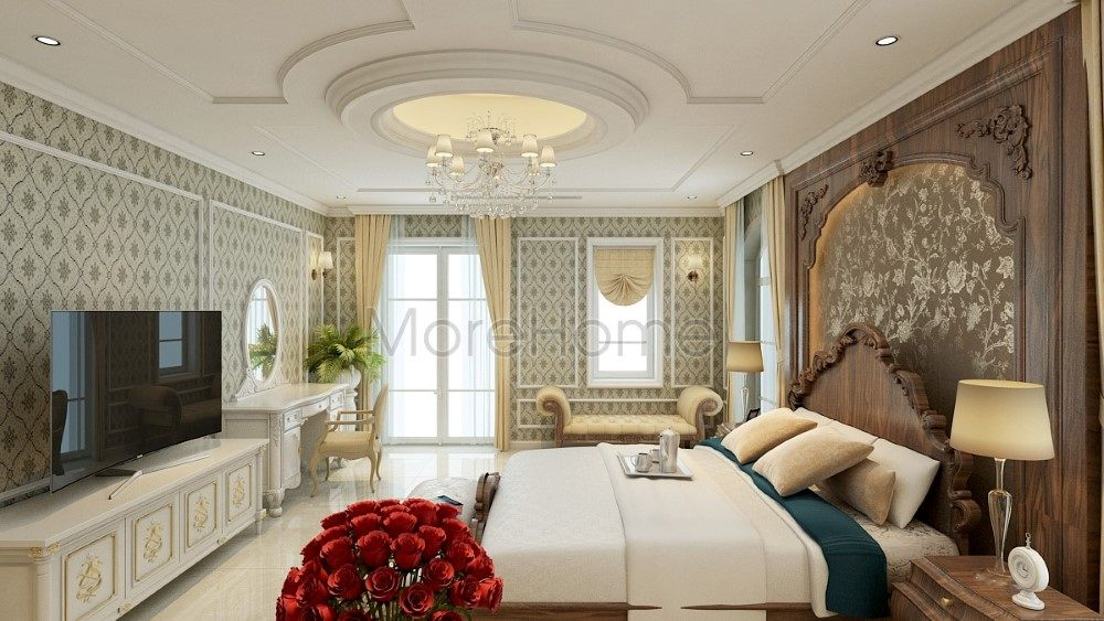 Thiết kế nội thất phòng ngủ biệt thự Riverside Nguyễn Duy Trinh