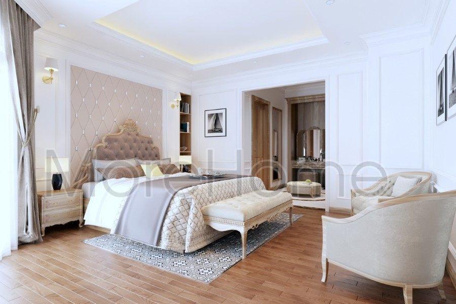 Thiết kế nội thất phòng ngủ biệt thự Thủ Đức