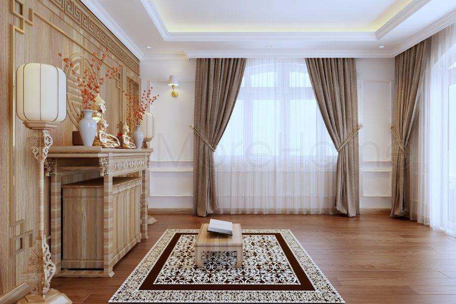 Thiết kế nội thất phòng thờ biệt thự tân cổ điển Thủ Đức