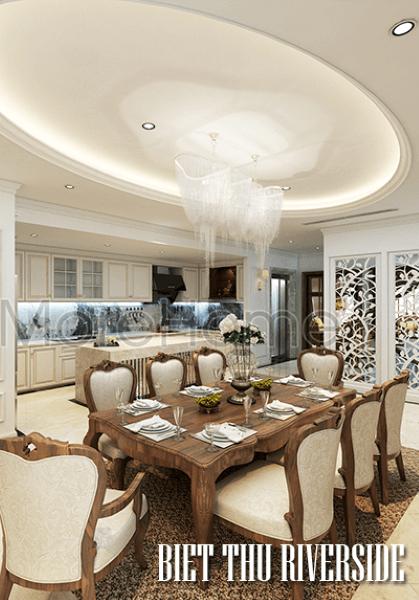 Thiết kế nội thất biệt thự Riverside Nguyễn Duy Trinh tao nhã với phong cách Á Đông