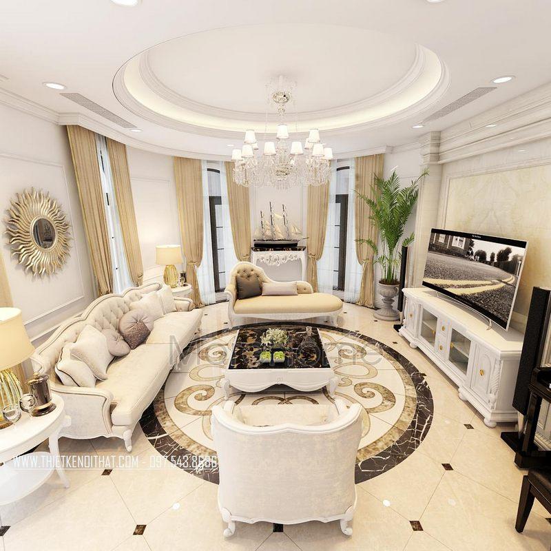 Thiết kế nội thất biệt thự tân cổ điển Dương Nội