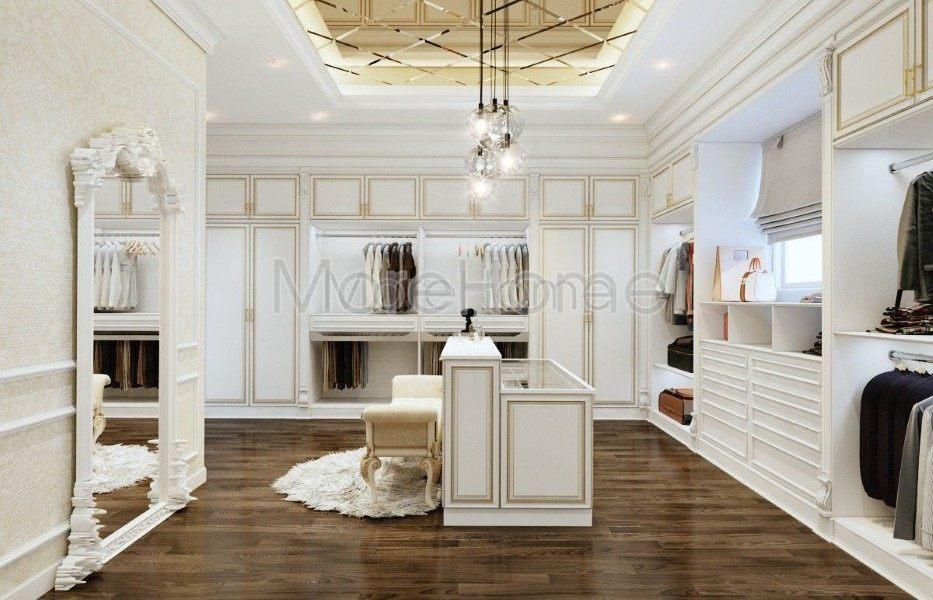 Thiết kế nội thất phòng thay đồ biêt thự đường Tên Lửa quận Bình Tân hcm