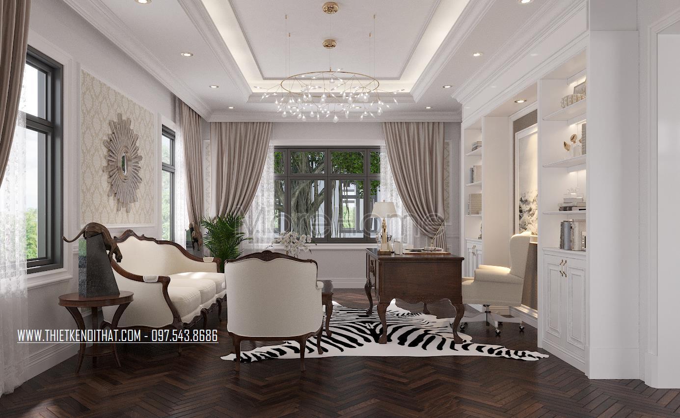 Thiết kế nội thất biệt thự tân cổ điển tại thái bình