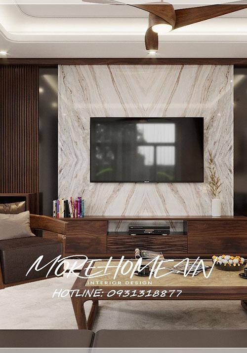 Thiết kế nội thất Thái Nguyên ấn tượng với nội thất biệt thự gỗ óc chó sang trọng