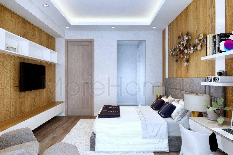 Thiết kế nội thất phòng ngủ nhà phố Vincom Rạch Giá