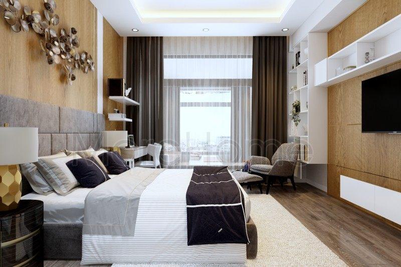 Thiết kế nội thất phòng ngủ nhà phố Vincom Rạch Giá Kiên Giang