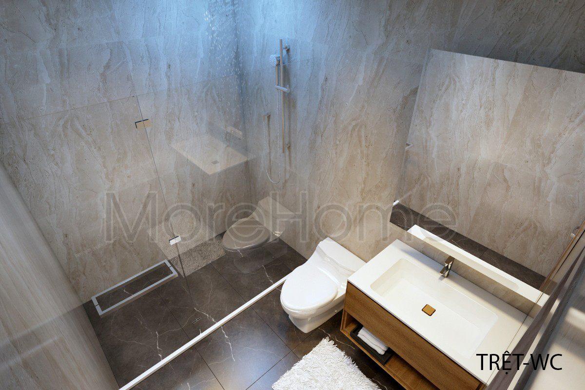 Thiết kế nội thất phòng tắm nhà phố Vincom Rạch Giá Kiên Giang