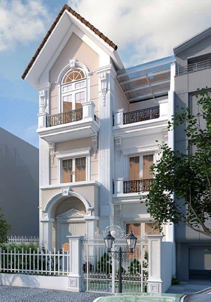 Thiết kế kiến trúc biệt thự Vinhomes Riverside Sài Đồng - Nhà Anh Hải
