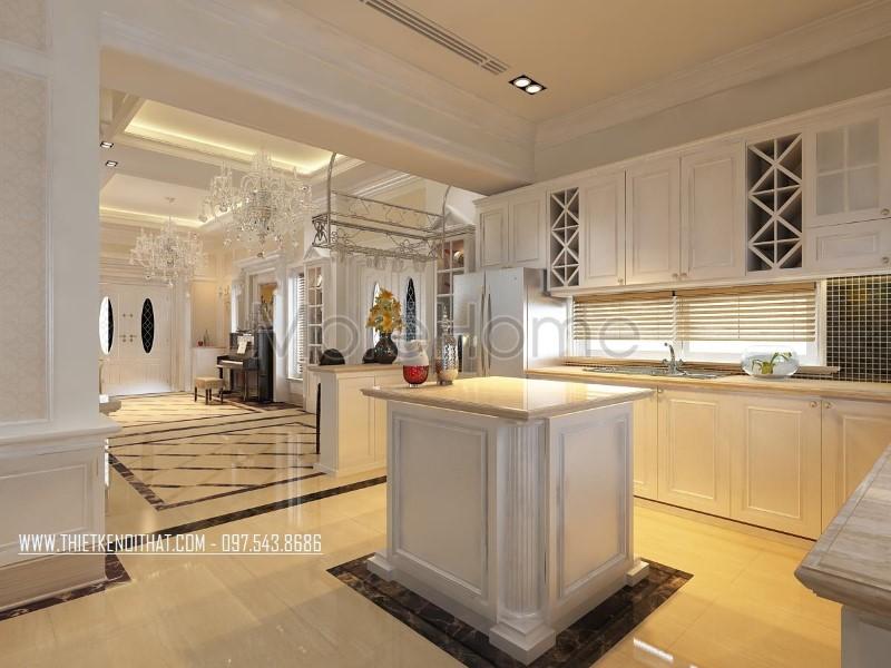 Thiết kế nội thất biệt thự Vinhomes Riverside phong cách tân cổ điển