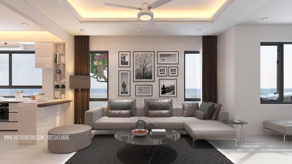 Thiết kế nội thất phòng khách biệt thự Vinhomes Thăng Long Hoài Đức Hà Nội