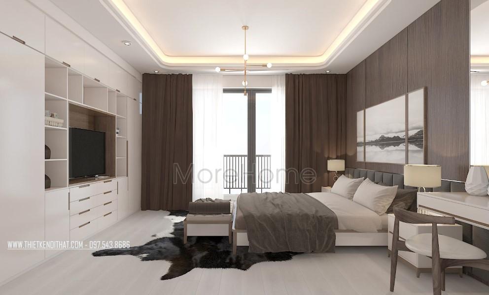 Thiết kế nội thất phòng ngủ biệt thự Vinhomes Thăng Long Hoài Đức Hà Nội