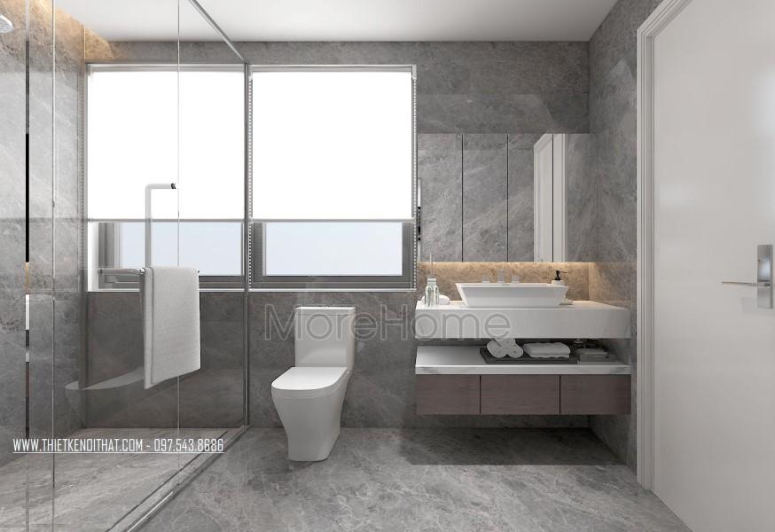 Thiết kế nội thất phòng tắm biệt thự Vinhomes Thăng Long Hoài Đức Hà Nội