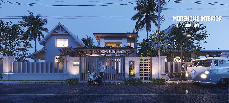 Thiết kế kiến trúc biệt thự nhà vườn ở Nam Định