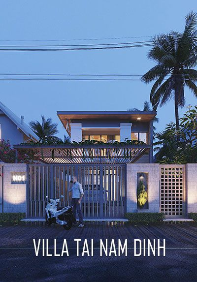 Thiết kế kiến trúc biệt thự nhà vườn phong cách hiện đại tại Nam Định