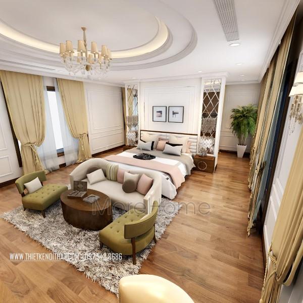 Thiết kế nội thất biệt thự Xuân Phương tân cổ điển