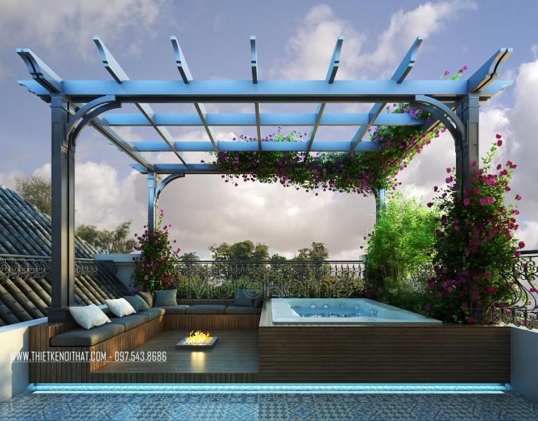 Thiết kế biệt thự tân cổ điển cao cấp tại Vinhomes RiverSide - Anh Thanh