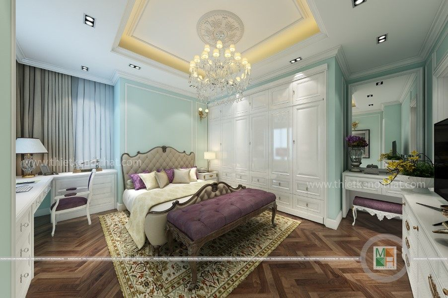 Nội thất phòng ngủ căn hộ SÀI GÒN Peal