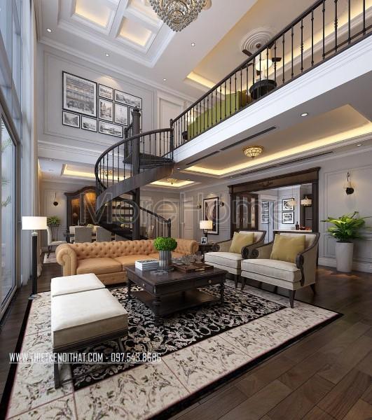 Thiết kế nội thất chung cư Duplex Mandarin