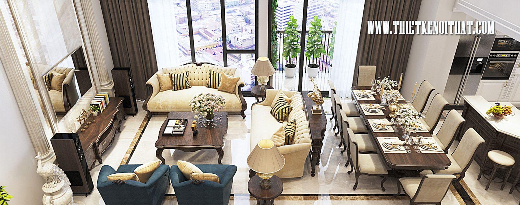 Thiết kế nội thất căn hộ Duplex Hapulico Hà Nội