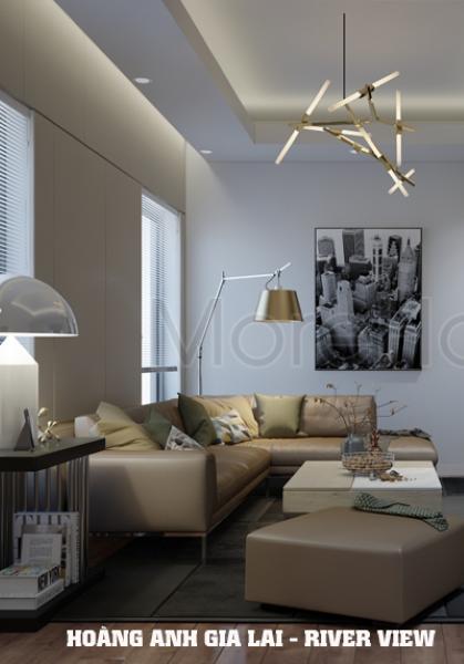 Thiết kế căn hộ Hoàng Anh Gia Lai River View hiện đại - Anh Cảng