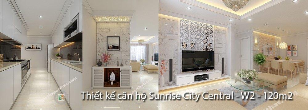 Thiết kế căn hộ SunRise City Central Sài Gòn W1, 120m2