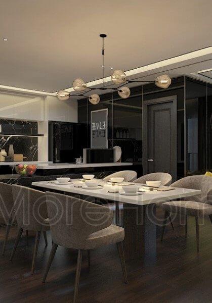 Thiết kế nội thất căn hộ chung cư Sunrise City - chị Duyên hiện đại