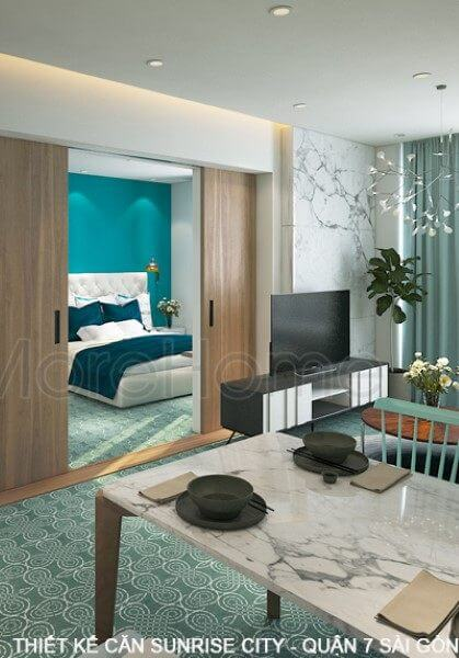 Thiết kế căn hộ một phòng ngủ Sunrise City - Quận 7 Sài Gòn