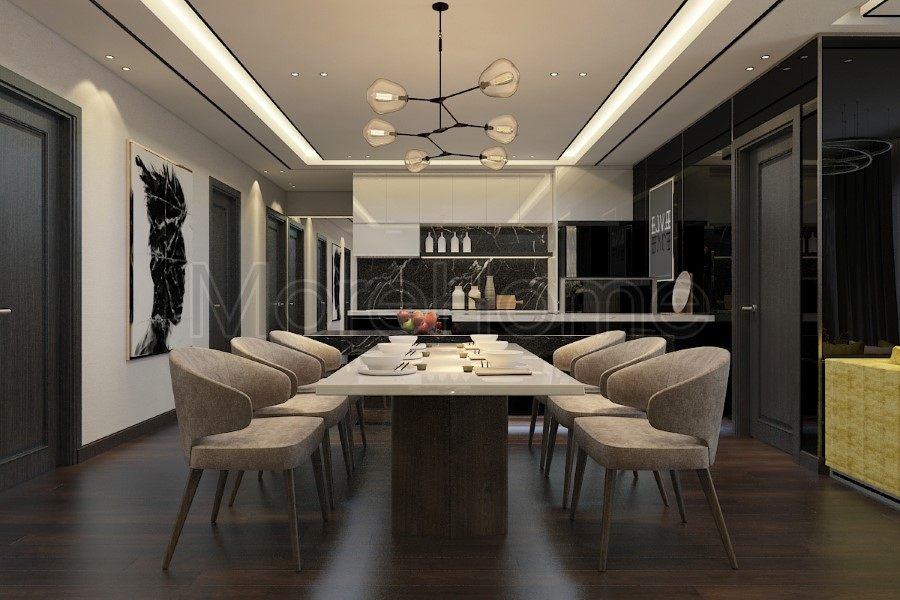 Thiết kế nội thất căn hộ chung cư Sunrise City