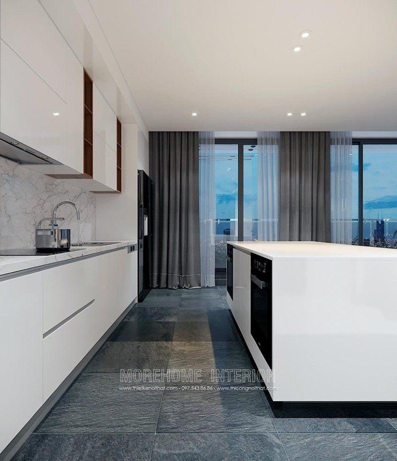 Tủ bếp hiện đại cho chung cư vinhome bason quận 1 hcm