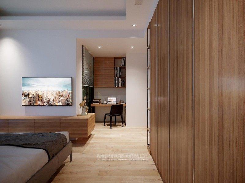 Thiết kế nội thất phòng ngủ chung cư vinhom bason quận 1 hcm
