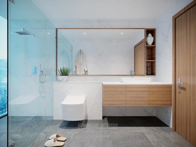 Thiết kế phòng tắm nhà vệ sinh chung cư vinhome bason quận 1 hcm