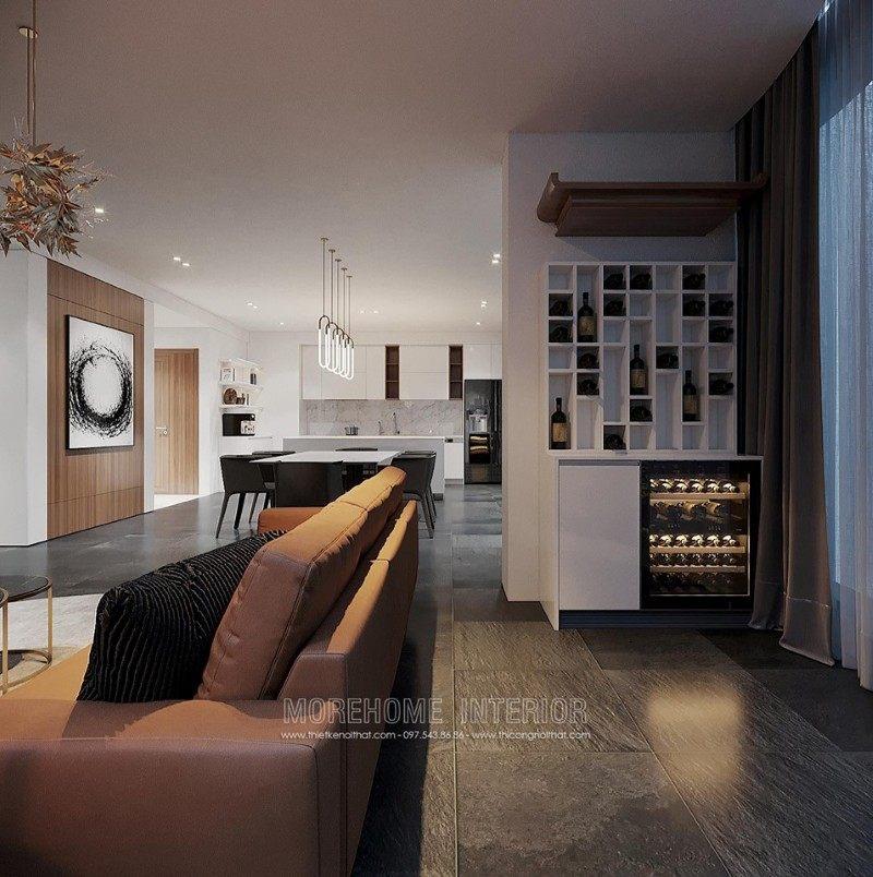 Thiết kế phòng khách chung cư vinhome bason quận 1 hcm