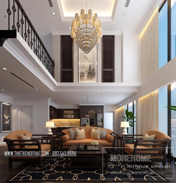 Thiết kế nội thất chung cư DUPLEX Hà Đô phong cách Gỗ Việt