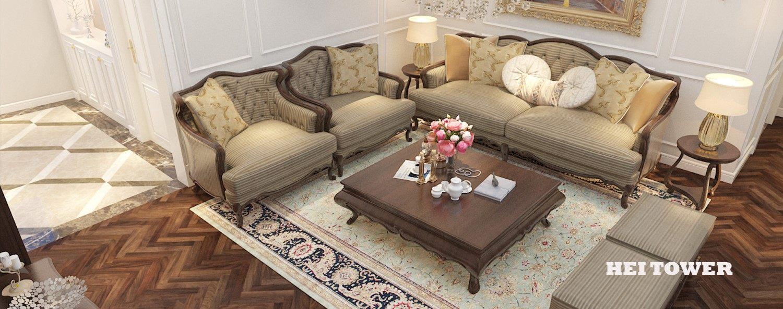 Thiết kế nội thất phòng khách chung cư Hei Tower